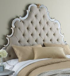 Tufted headboard, this is my headboard, love it!!!