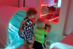 How to create a multi-sensory experience room (uh, aka, possible sensory overload for some kids)