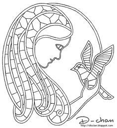 Dama+della+colomba.gif (image) Bobbin Lace Patterns, Macrame Patterns, Bruges Lace, Bobbin Lacemaking, Sketch 4, Old Cards, Point Lace, Lace Jewelry, Romanian Lace