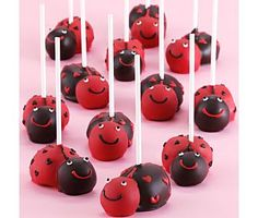 Lady bug cake pops- if only I was that creative :-))