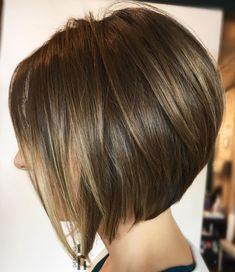 Shiny Angled Bob With Layers