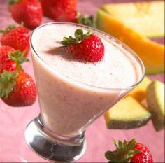 Strawberry Mango Coconut Smoothie---mmm..mmm...good :) #smoothies