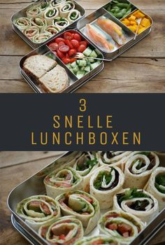 Back to school: 3 snelle lunchboxen 3 quick lunchbox ideas, especially for the back to school season I made 3 quick lunchboxes for you. These lunch boxes are perfect to take to work or school. Food To Go, Easy Food To Make, Good Food, Food And Drink, Easy Cooking, Cooking Recipes, Healthy Recipes, Low Carb Lunch, Lunch Box Recipes