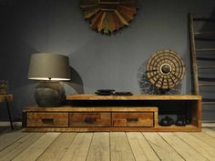 TV-meubel van oud hout Orvault - leverbaar in diverse maten | www.robuustetafels.nl