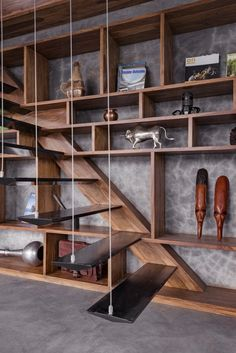 staircase Veranda on a Roof by Studio Course Interior Architecture, Interior And Exterior, Interior Design, Casa Milano, Concrete Interiors, Stair Detail, Floating Staircase, Penthouse Apartment, Home Decor Accessories
