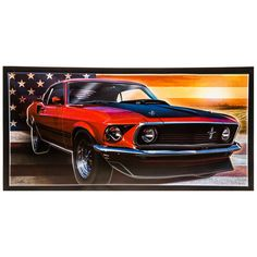 American Mustang Embossed Tin Sign⎜Open Road Brands