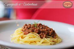 Espaguete à Bolonhesa www.familiatagliari.com.br www.facebook.com/familiatagliari