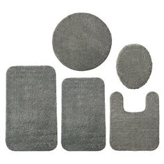 Room Essentials; Bath Rugs [Master Bath, in Aqua Breeze or Grey Mist]