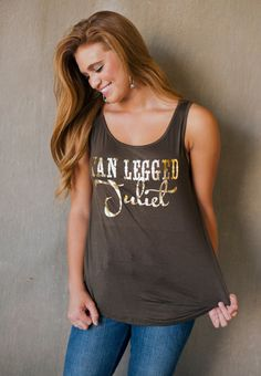 Tan Legged Juliet chiffon button back tank by SweetTeeStudio