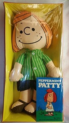 vintage 1966 peppermint patty peanuts rag doll with clothes and