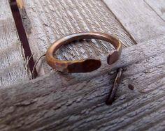 Copper mens ring copper ring for men rustic copper ring