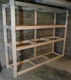 How to Make a Basement Storage Shelf | whitehouseblackshutters.com