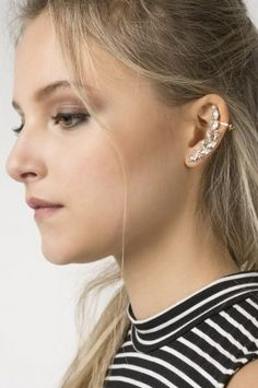 Shop for earrings, studs, hoops and ear cuffs at Ardene. Find sterling silver earrings and large statement earrings with fringe and faux pearls. Statement Earrings, Sterling Silver Earrings, Studs, Pearls, Crystals, Jewelry, Jewlery, Jewerly, Stud Earring