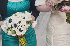 Real Weddings: Blair & Judson's Intimate Paris Elopement--love these flowers