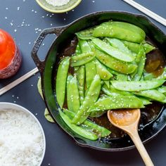 Garlic Sesame Snow Peas - A super simple/cruelty free side dish.