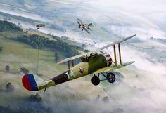 Nieuport 28, 94th Aero Squadron /by ColesAircraft #flickr #plane #ww1 #art #Rickenbacker
