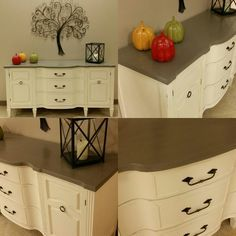 SO IN LOVE with this peace painted in Cece Caldwell's Paints in Vintage White. #vtrt #vintage #furnituredesign #furnitureflip #furnitureforsale #cececaldwell #cececaldwellspaints #home #vintagewhite