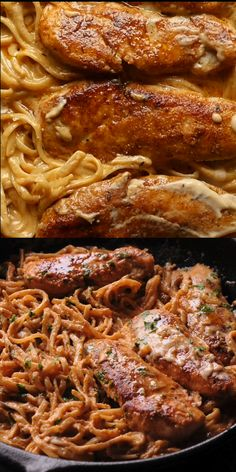 Spicy Chicken Lazone Pasta is a flavorful and easy chicken pasta dinner that comes together in only 30 minutes! Easy to make weeknight pasta dish! Easy Chicken Dinner Recipes, Baked Chicken Recipes, Pasta Recipes, Cooking Recipes, Linguine Recipes, Donut Recipes, Easy Healthy Dinners, Healthy Dinner Recipes, Louisiana Chicken Pasta