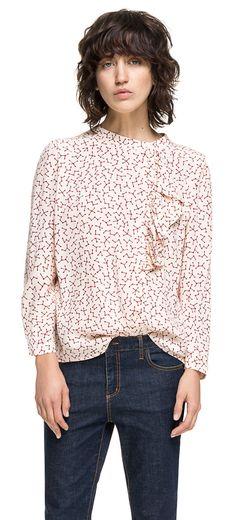 READY TO WEAR Women woven blouse KENYA STAR BURGUNDY