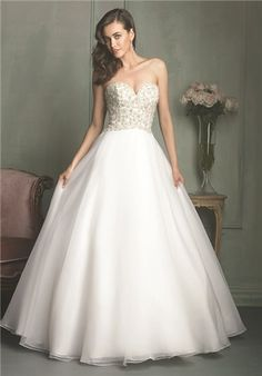 Beaded bodice with soft organza ballgown skirt    9115 from Allure Bridals  Wedding Dress Sample 98d99787d900