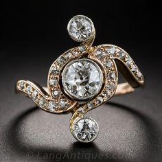 Edwardian Diamond Dinner Ring; c. 1910 - Lang Antiques