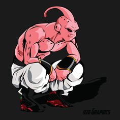 Part of my DBZ sneakerhead theme, Majin Buu in the air jordan retro Naruto Shippuden Anime, Anime Naruto, Manga Anime, Anime Vs Cartoon, Cartoon Characters, Buu Dbz, Goku 2, Majin Boo Kid, Dragon Ball Z