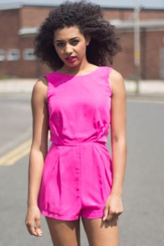 We absolutely LOVE our brand new Amie Hot Pink and Black Lace Panel Playsuit perfect for brightening up your summer wardrobe! www.lovepinkboutique.com/new/amie