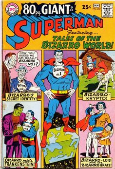 Superman #202, January 1968, cover by Curt Swan and George Klein,
