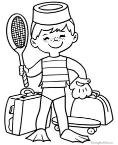 Top 20 Free Printable Sports Coloring Pages Online | Pinterest ...