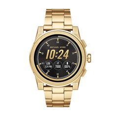 Michael Kors Access Grayson Touchscreen Smartwatch - Men Wrist Watch on YOOX. The best online selection of Wrist Watches Michael Kors Access. Skagen, Michael Kors Gold, Michael Kors Watch, Smartwatch, Smart Bracelet, Bracelet Watch, Men's Accessories, Cool Watches, Watches For Men
