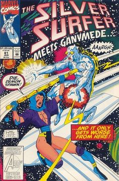 Silver Surfer Vol. 3 # 81 by Ron Lim ... meets Ganymede °°