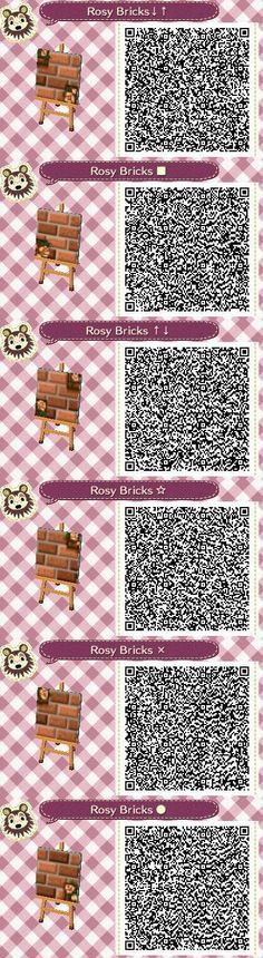 Rosy Bricks Part 2 QR codes --by Pixel Rose Designs on Tumblr http://pixelroses.tumblr.com/