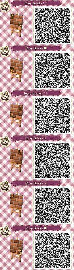 Rosy Bricks Part 2 QR codes --by Pixel Rose Designs on Tumblr http://pixelroses.tumblr.com/