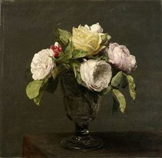 Roses in a Vase by Henri Fantin-Latour ~Image courtesy Birmingham Museums and Art Gallery