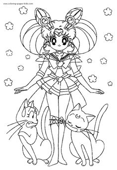 Sailor Moon color page cartoon characters coloring pages, color plate, coloring sheet,printable coloring picture