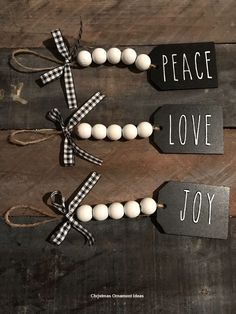 Are you searching for inspiration for farmhouse christmas decor? Check this out for cool farmhouse christmas decor inspiration. This unique farmhouse christmas decor ideas appears to be entirely brilliant. Diy Christmas Decorations Easy, Diy Christmas Ornaments, Diy Christmas Gifts, Holiday Crafts, Christmas Holidays, Stocking Ornaments, Personalized Christmas Ornaments, Christmas Ideas, Christmas Bead Garland