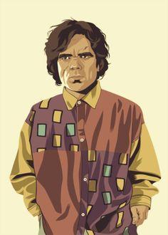 Mike Wrobel es un diseñador gráfico Francés que actualmente reside en Tokio, creció entre capítulos de Expediente X y música grunge. Mike nos trae una fantástica colección de ilustraciones de los personajes de la serie de televisión Juego de tronos vistos como si estos hubiesen sido marcados por las tendencias de moda de los años 80 y 90. No dejéis pasar las demás ilustraciones que tiene en sus web!