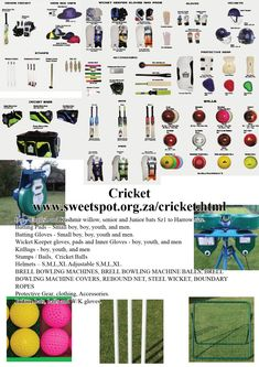 Sweetspot is a sports equipment supplier that supplies a large range of sports. Keeper Gloves, Cricket Bat, Batting Gloves, Netball, Small Boy, Rebounding, Ropes, Sports Equipment, Clothing Accessories