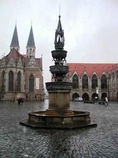 Market square in Braunschweig, Germany