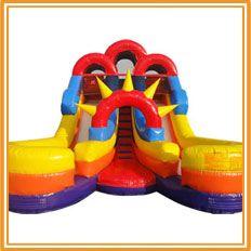 16ft Double Splash Water Slide Rental Kidzonepartyrentals Com Indianapolis In Water Slide Rentals Inflatable Water Slide Bounce House