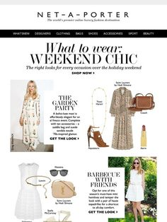 Something for the (holiday) weekend - Net-A-Porter