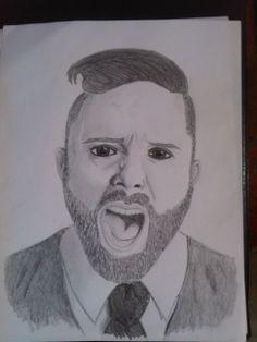 """Dibujo a lápiz de John Cooper de la Banda de Rock Cristiano """"Skillet"""". hecho por mi Johnaiker Muñoz."""
