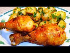 Sült csirkecomb és petrezselymes burgonya hagyományos módon - YouTube Tandoori Chicken, Turkey, Ethnic Recipes, Youtube, Turkey Country, Youtubers, Youtube Movies