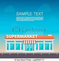 Vector - supermercado, Zona lateral de camino - stock de ilustracion, ilustracion libre de, stock de iconos de clip art, logo, arte lineal, retrato de EPS, Retratos, gráficos, dibujos gráficos, dibujos, imágenes vectoriales, trabajo artístico, Arte Vectorial en EPS
