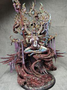 Huge Tzeentch model by Creature Caster I've been painting over the past few months Warhammer Art, Warhammer Models, Warhammer 40k Miniatures, Warhammer Fantasy, Warhammer 40000, Mini Paintings, Cool Paintings, Minis, Stormcast Eternals