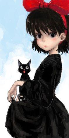 Kiki e Jiji con famigliola - #KikiDeliveryService - H.Miyazaki