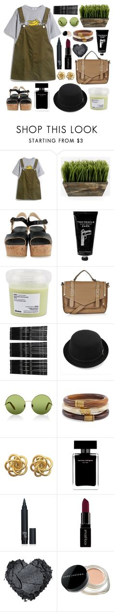 """""""you're the judge, oh no, set me free"""" by skittlebum ❤ liked on Polyvore featuring BOSABO, TokyoMilk, Davines, Topshop, Monki, Victoria, Victoria Beckham, Chico's, Narciso Rodriguez, Smashbox and Marc Jacobs"""