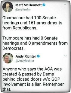 Important to remember as we try to avoid the BS Trump is slinging about how Democrats are keeping him from getting his Repeal and Replace orgasm.