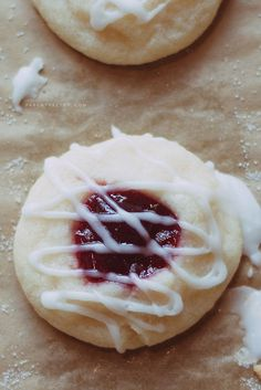 Raspberry almond shortbread cookies. Made these and the family loved them. Didnt last the night!