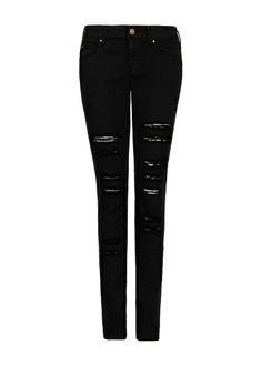 MANGO - Jeans super slim rotos